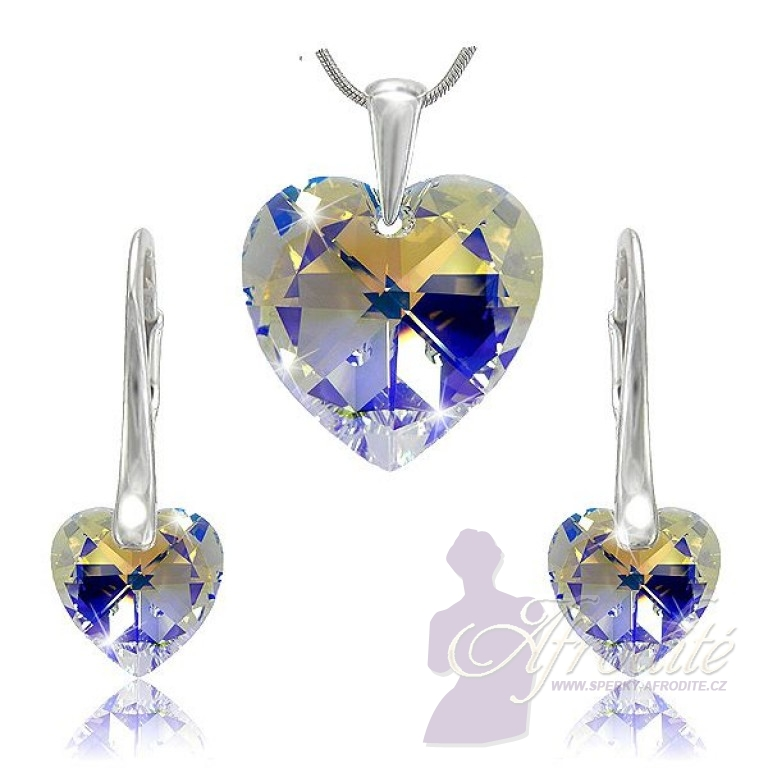 Sada šperků SWAROVSKI Elements Heart srdce - crystal ab 23bdbddcb0f
