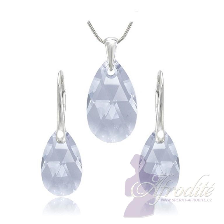 šperky SWAROVSKI Elements souprava Pear Blue Shade
