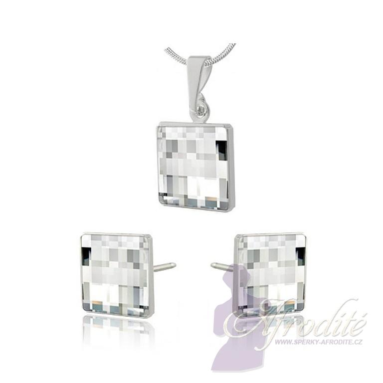 šperky souprava SWAROVSKI Elements Chessboard crystal