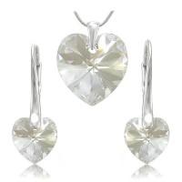 Sada šperků SWAROVSKI Elements Heart srdce - crystal
