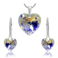 Sada šperků SWAROVSKI Elements Heart srdce - crystal ab
