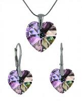 Sada šperků SWAROVSKI Elements Heart srdce - vitrail light