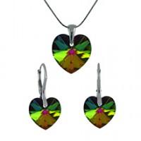 Sada šperků SWAROVSKI Elements Heart vitrail medium