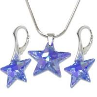 souprava šperky SWAROVSKI Elements Star hvězda sapphire