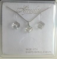 šperky SWAROVSKI Elements CUBE kostka crystal