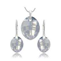 šperky souprava SWAROVSKI Elements Leaf sada blue shadow