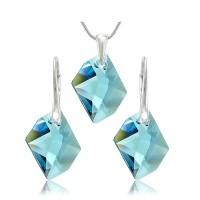 šperky souprava SWAROVSKI Elements Cosmic aquamarine